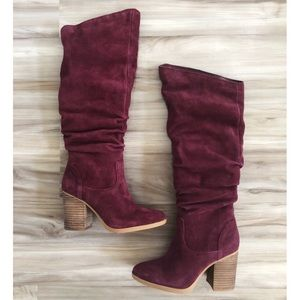Nine West slouchy suede ABEEGD boots